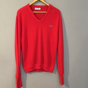 Vintage 1960's Red V Neck Sweater